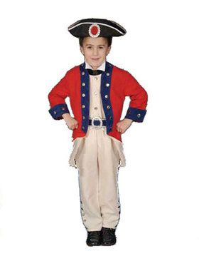 Deluxe Colonial Soldier Set Child Costume