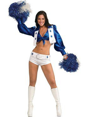 Deluxe Dallas Cowboys Officially Licensed Cheerleader Adult Costume