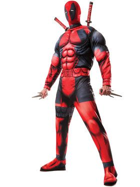 Deluxe Deadpool Muscle Chest Mens Costume