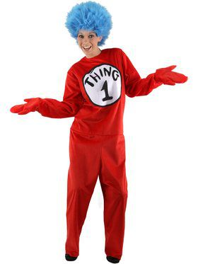 Deluxe Dr Seuss Thing 1 Or 2 Costume