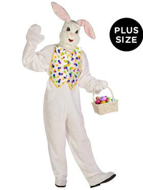 Plus Size Deluxe Easter Bunny Costume For Adults