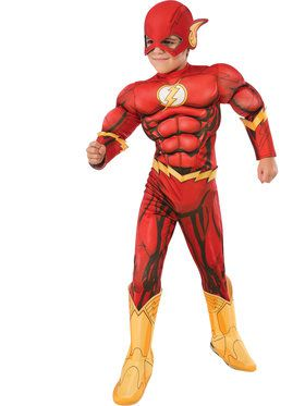 Deluxe Flash Boy's Costume