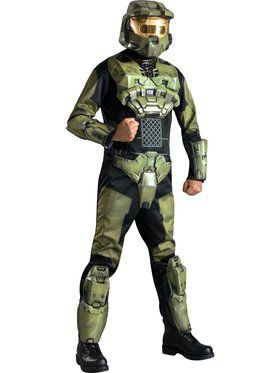 Deluxe Halo 3 Master Chief Jumpsuit Eva Molded Armor Adult