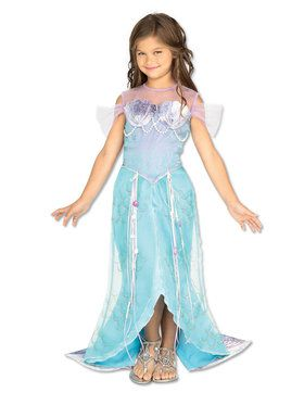 Girls Deluxe Mermaid Princess Costume