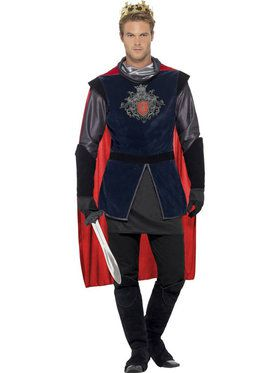 Deluxe King Arthur Men's Costume