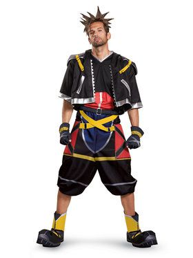 Deluxe Kingdom Hearts Sora Costume for Teens/Adults