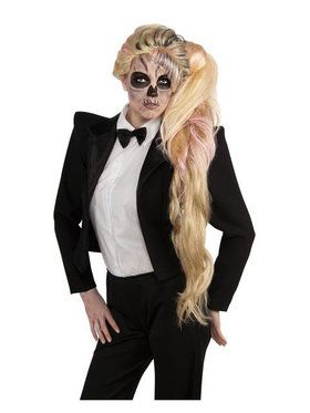 Deluxe Lady Gaga Side Ponytail Wig