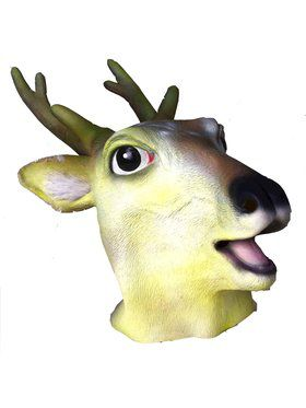 Deluxe Latex Deer Scary Over Head Mask