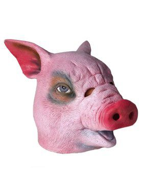 Deluxe Latex Pig Head Mask