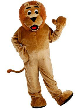 Deluxe Lion Mascot Men's Costume
