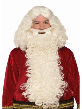 Long Santa Wig and Beard Deluxe Set
