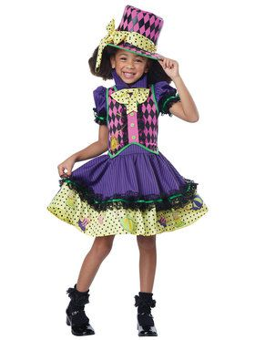 Deluxe Mad Hatteress Girl's Costume