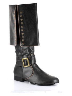 Deluxe Men's Pirate Captain Black Boots