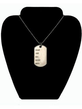 Deluxe Metal Dog Tag w/chain