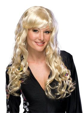 Deluxe Midnight Black Charm Wig Adult