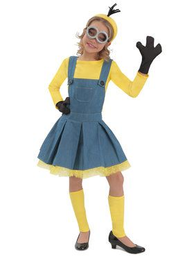 Deluxe Minion Girl Jumper Girl's Costume