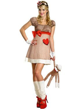 Deluxe Ms. Sock Monkey Adult Costume