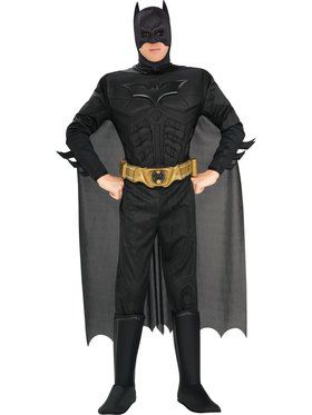 Deluxe Muscle Adult Dark Knight Batman Costume