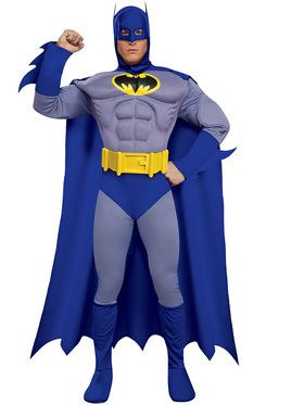 Deluxe Muscle Chest Batman Adult Costume