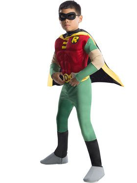Deluxe Muscle Chest Robin Boy's Costume