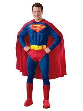 Deluxe Muscle Chest Superman Adult Costume