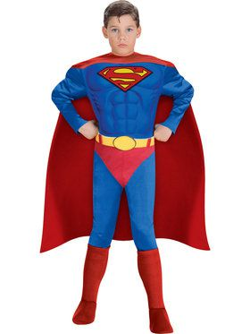 Child Deluxe Muscle Chest Superman Costume