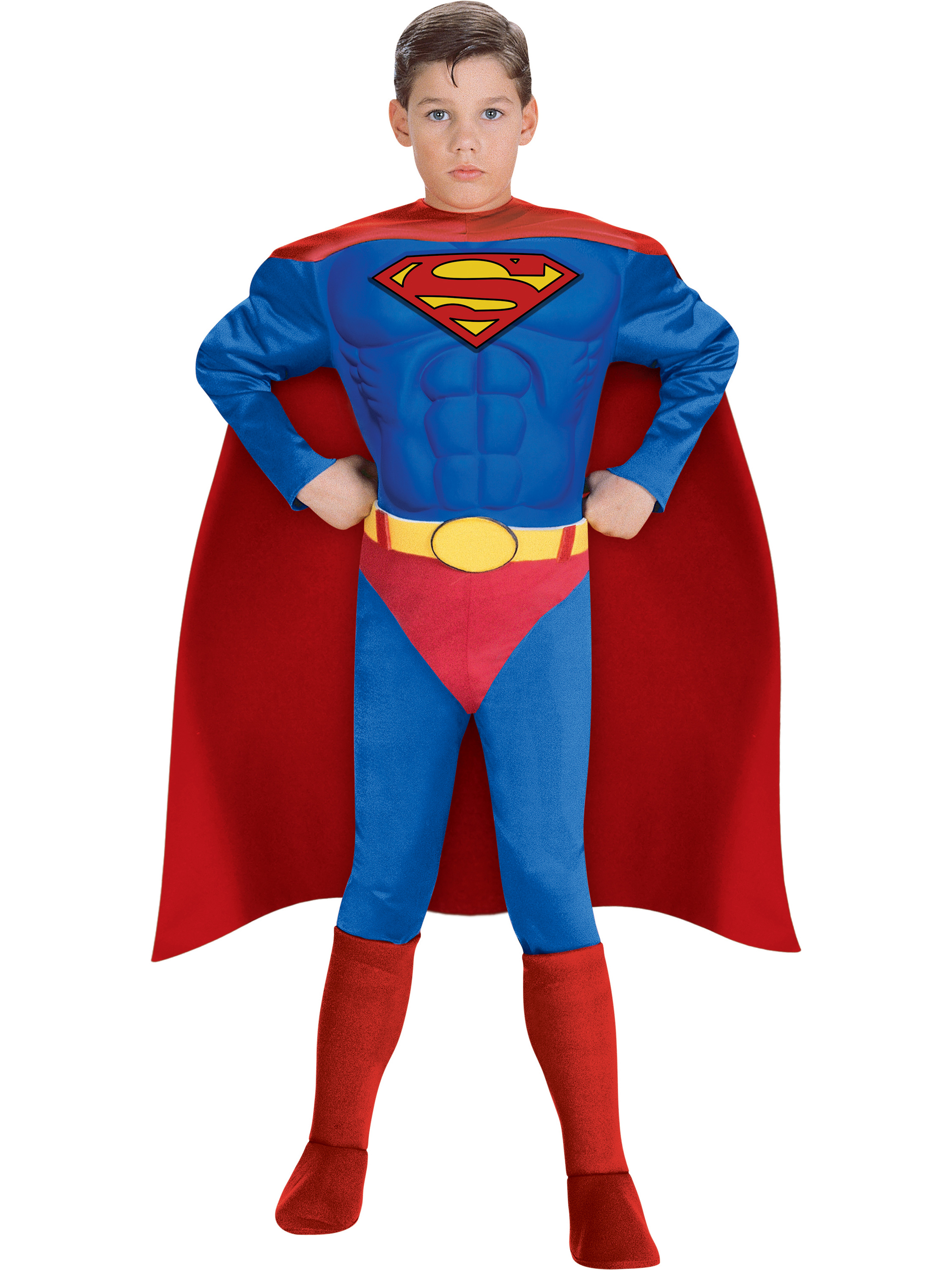 Deluxe Muscle Chest Superman Child Costume 274837