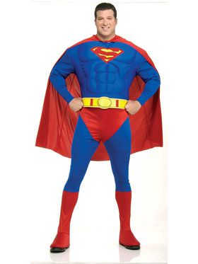 Deluxe Muscle Suit Superman Costume - Plus Size