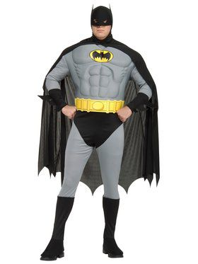 Deluxe Muscle Chest the Batman Adult Plus Costume