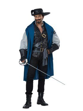 Mens Deluxe Musketeer Costume