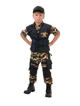 Deluxe Navy Seal Child Costume