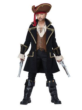 Deluxe Pirate Captain Boy's Costume