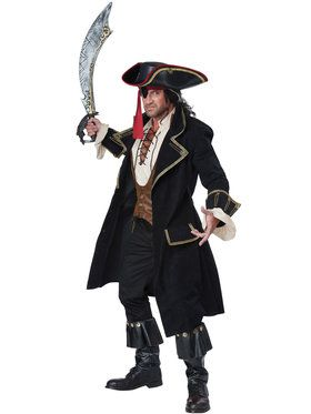 Deluxe Pirate Captain Men's Costume