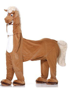 Deluxe Plush Two-Man Horse Mens Costume