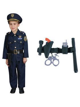 Deluxe Police Officer Set Costume Kit