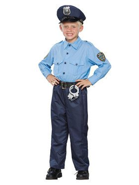 Deluxe Policeman Costume For Children
