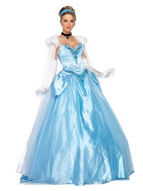 Deluxe Princess Cinderella Ball Gown Disney Adult Costume