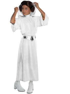 Deluxe Princess Leia Girls Costume