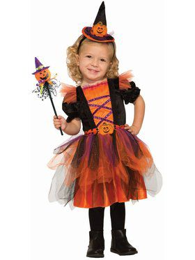 Deluxe Pumpkin Witch Child Costume