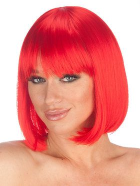 Deluxe Red Charm Wig Adult