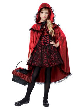 Deluxe Red Riding Hood Girl's Costume