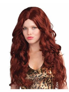 Deluxe Red Sultry Wig Adult