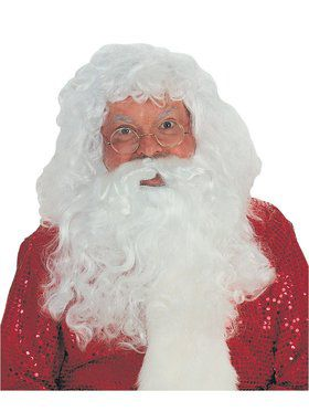 Santa Deluxe Beard and Wig Set