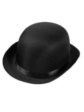 Deluxe Satin Derby Hat Black