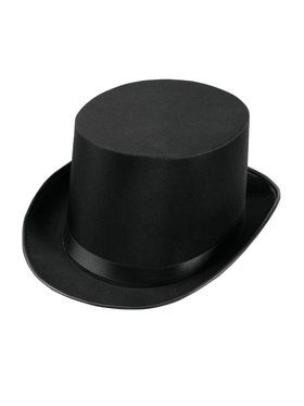 Deluxe Satin Top Hat Black Accessory