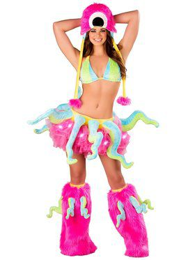 Deluxe Sexy Octopus Top & Tentacle Belt Adult Costume