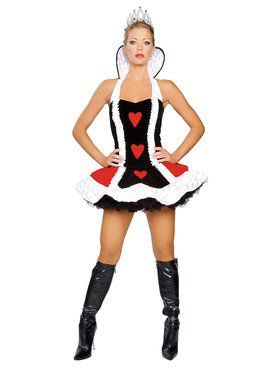 Deluxe Sexy Queen of Hearts Adult Costume