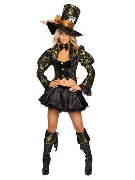 Deluxe Sexy Tea Party Tease Mad Hatter Adult Costume