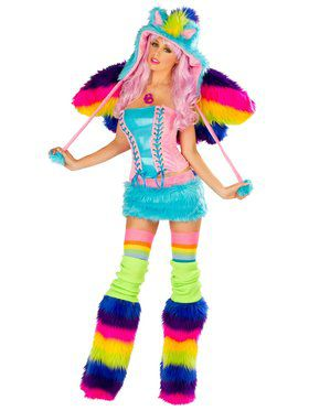 Deluxe Sexy Women's Rainbow Pony Costume