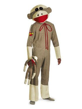 Deluxe Sock Monkey Mens Costume